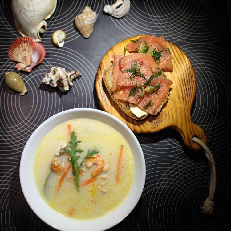 Бергенский суп и лосось