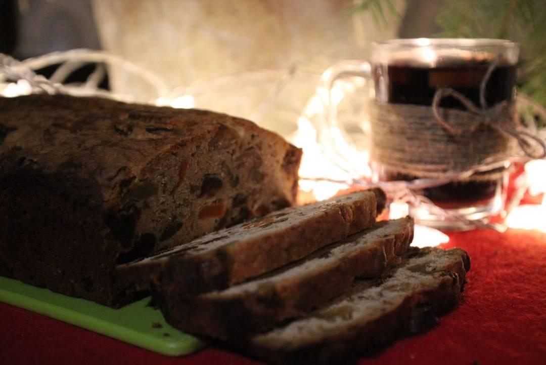 Глинтвейн и рождественский кекс