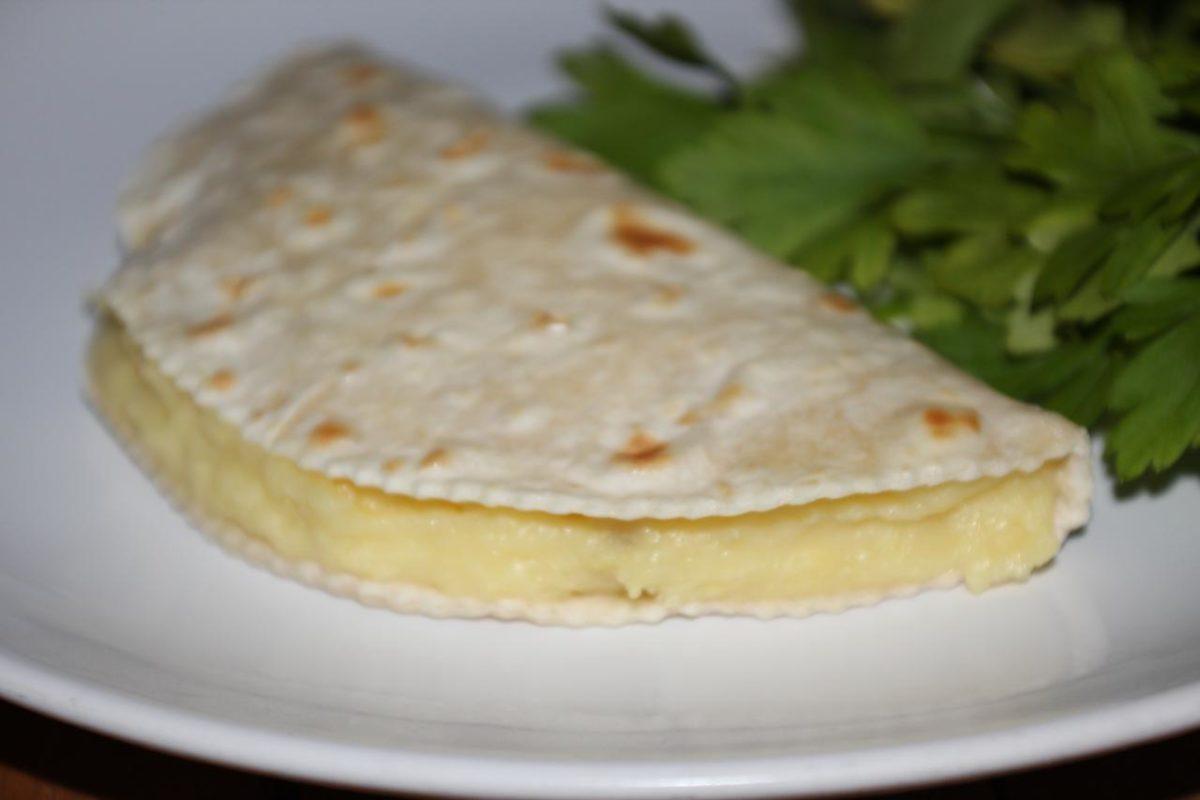 Кыстыбый с картошкой — Татарская кухня