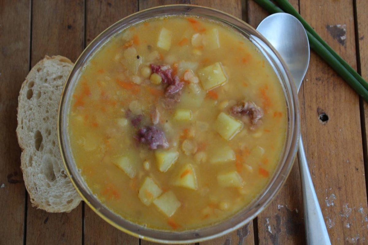 Армейский гороховый суп — Русская кухня