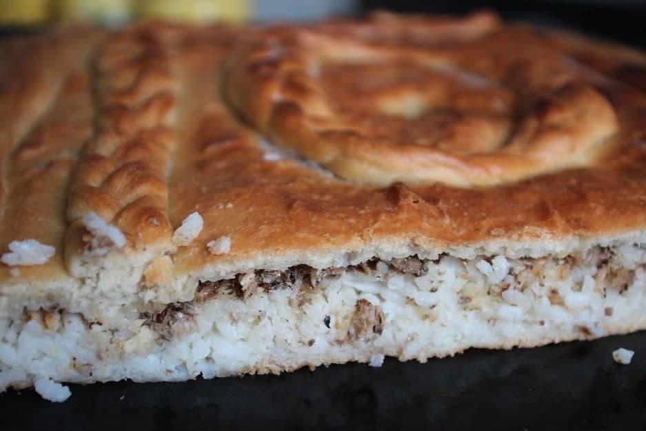 Пирог с рыбой и рисом — Русская кухня