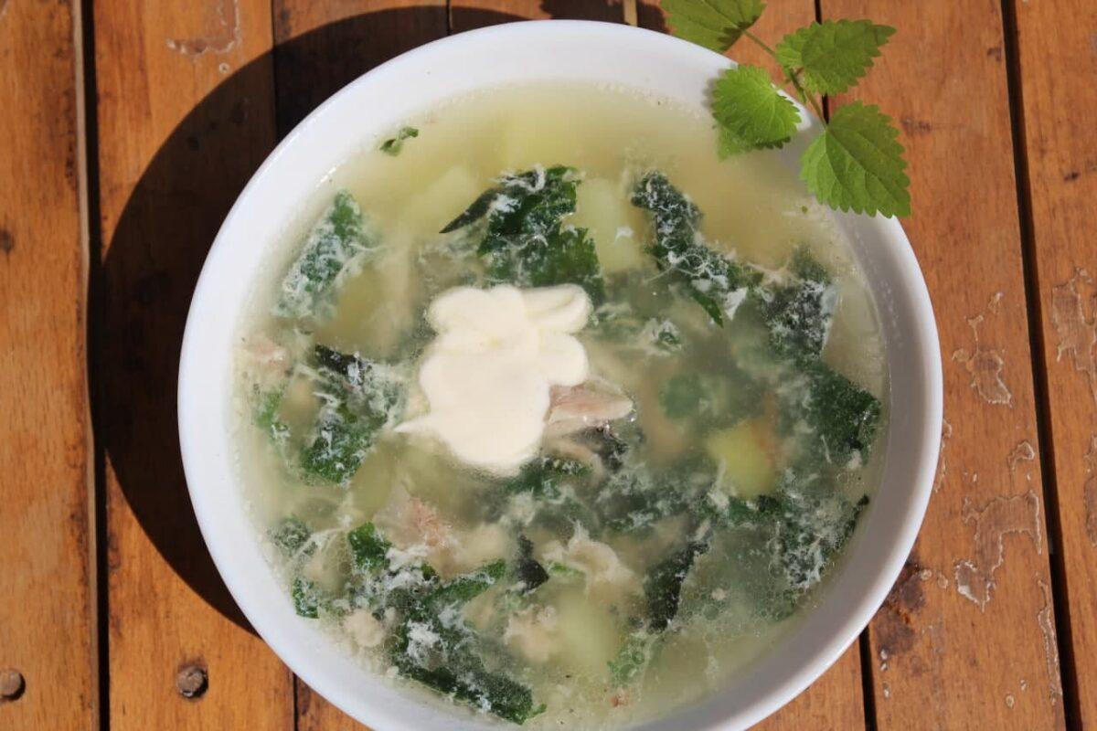 Суп из крапивы — Русская кухня